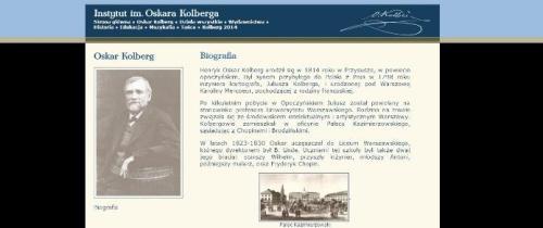 Warto zajrzeć na stronę www Instytutu im. Oskara Kolberga...