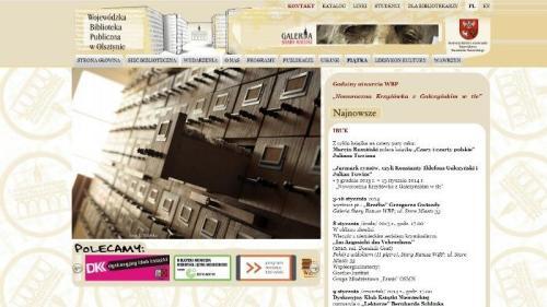 Warto zaglądać na stronę internetową Wojewódzkiej Biblioteki Publicznej
