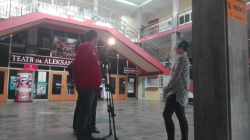 Realizacja nagrania z Zytą Wrzos na temat Ogólnopolskich Konfrontacji Tanecznych