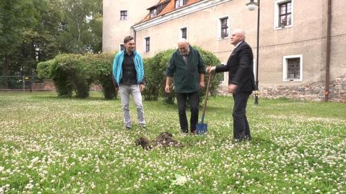 Oficjalne rozpoczęcie badań archeologicznych, fot. Tomasz Misiuk.